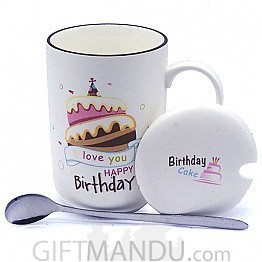 Birthday Ceramic Coffee Mug (Love You)