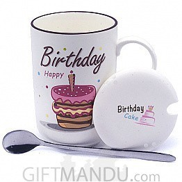Birthday Ceramic Coffee Mug (Candle)