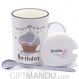 Birthday Ceramic Coffee Mug (Cup Cake)