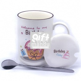 Birthday Ceramic Coffee Mug (Cherry)