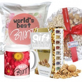 Dry Nuts Tray, Walnut Kernels, Best Aama Mug and Cushion