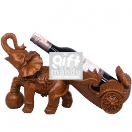 Attractive Table Top Elephant Wine Holder - 15''