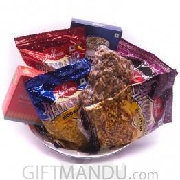 Special Snacks, Sweets & Walnut Steel Tray
