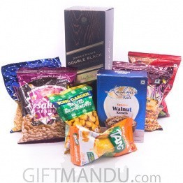 Game Watching Time With JW Double Black Whisky & Snacks (8 Items)