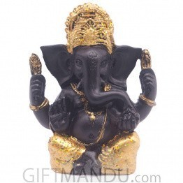 Glittery Lord Ganesh Ji - (4.75 Inch)