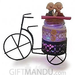 Couple Love Message Glowing Cycle -7.4 Inch