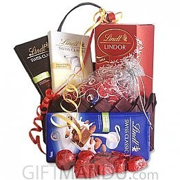 Lindt Chocolates, Gourmet Chocolates Love Basket