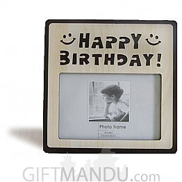 """Happy Birthday"" Wood Photo Frame - Table Top"