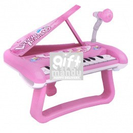 Little Piano with Stand and Mike - Battery Operated