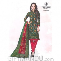Deeptex Prints Cotton Fabrics Festive Kurthi Suit