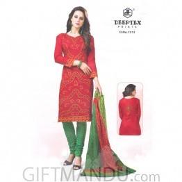 Deeptex Prints Cotton Fabrics Kurthi Suit Piece