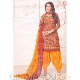Balaji Festival Designer Cotton Kurti Set