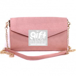 Textured Design Side Bag For Women - Pink