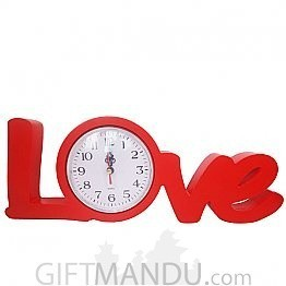 Beautiful Valentine Red Love Shaped Clock - Table Top