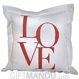 Love Printed Cushion for Valentine's Day