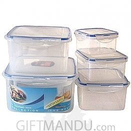 Microwave Fresh Keeping Lunch Box (Square Shape)