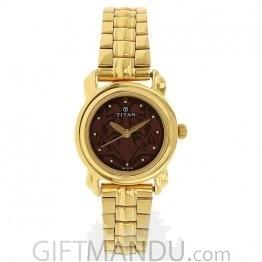 Titan Analog Brown Dial Watch for Women (2534YM03)