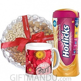 Dry Nuts Tray, Women's Horlicks and Best Aama Mug