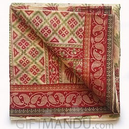 B.K Cotton Saree with Blouse Piece by Chandra (Multi-color)