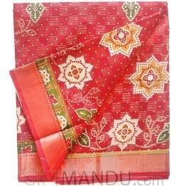 Tulasi Red Cotton Saree (Star)