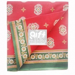 Ranjana Red Cotton Saree with Floral Border by Golmaal