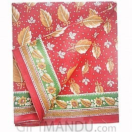 Ranjana Red Cotton Saree with Patta Print by Golmaal Red