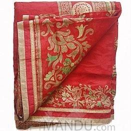 Hari Anantaa Cotton Saree with Golden Border by Seven Star