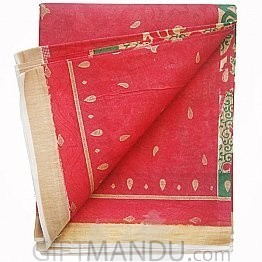 Kerela Cotton Red Saree