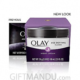 Olay Age Defying Classic Night Cream, Face Moisturizing