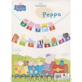 Peppa Pig Happy Birthday Decoration Banner