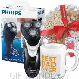 Philips Electric Shaver, Dry Nuts Tray and Best Dad Mug