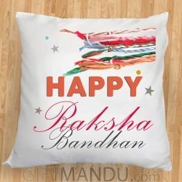 Happy Raksha Bandhan Printed Cushion