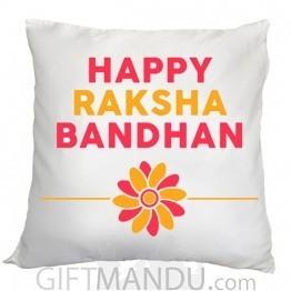 Happy Raksha Bandhan Cushion