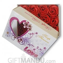 Rose Flower Petals Soap - 12 pcs