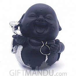 "Laughing Buddha Showpiece Gift (4.5"" Tall) - SP-6601"