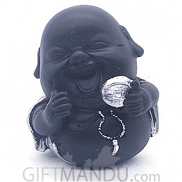 "Laughing Buddha Showpiece Gift (4.5"" Tall) - SP-6602"