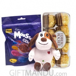 Chocolate Gift Box With Cute Love Puppy