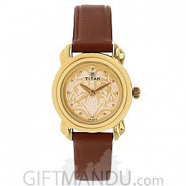 Titan Beige Dial Analog Watch for Women - 2534YL04
