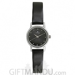 Titan Analog Black Dial Women's Watch - 2593SL01