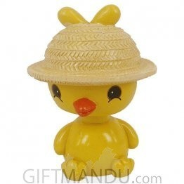 Spring Head Cute Tweety Car Dashboard Statue