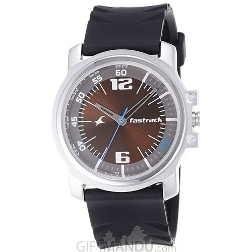 Fastrack Economy Analog Brown Dial Men's Watch - 3039SP02