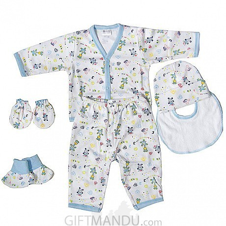 Baby Clothes Set For New Born Baby Blue 6 Items Gifts To Nepal