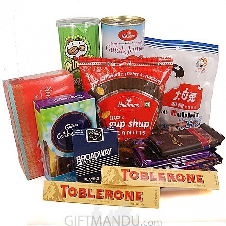 ... Snacks and Playing Card - Send Gifts To Nepal