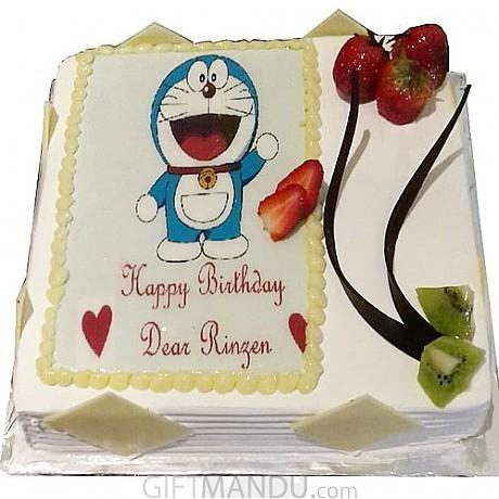 Doraemon Photo Cake From For Kathmandu Valley