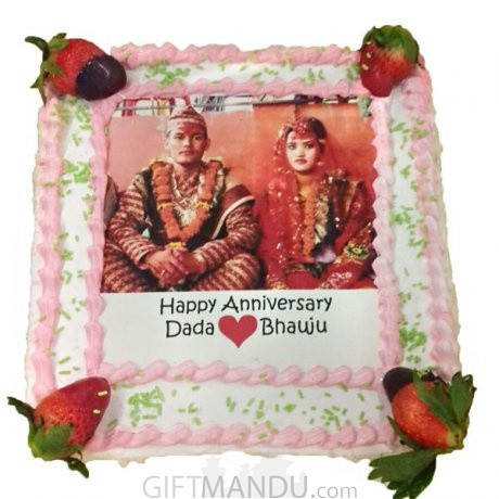 Anniversary Photo Cake for Kathmandu Valley