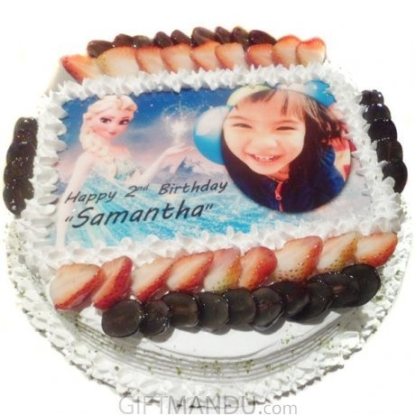 Princess Photo Round Cake From Hyatt Regency For Kathmandu Valley