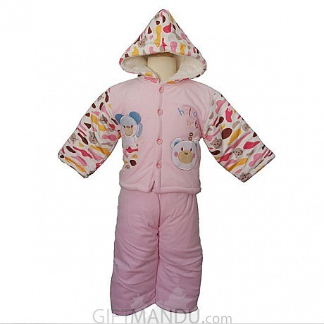 Jacket and Trouser Set For Babies (Pink)