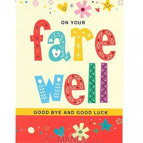 On your farewell good bye and good luck greeting card send gifts on your farewell good bye and good luck greeting card m4hsunfo