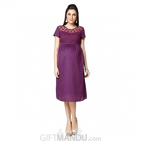 0e3c5ba089539 Nine Maternity Dress In Purple (Available In Five Sizes)- Send Gifts ...