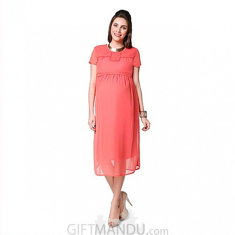 20523c6ddb ... Nine Maternity Dress - Pink (Available In Five Sizes) ...